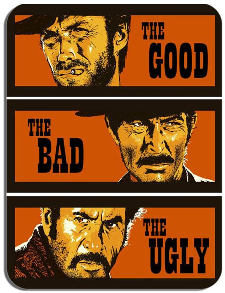 The Good, The Bad and The Ugly Movie Poster Mouse Mat. Film Novelty Mouse pad