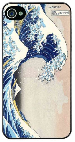 The Great Wave At Kanagawa High Quality HD Cover Case Fits iPhone 4/4S. Hokusai
