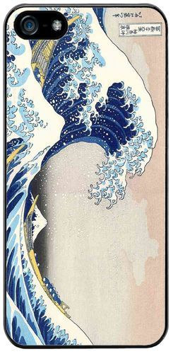 The Great Wave At Kanagawa Rubber Cover Case Fits iPhone 5/5S. Hokusai Art