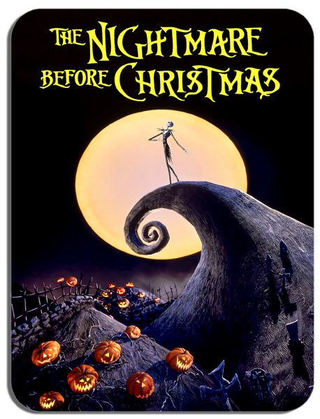 The Nightmare Before Christmas Mouse Mat  High Quality Movie Poster Mouse Pad