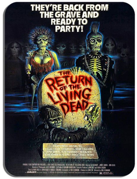 The Return of the Living Dead Vintage Film Poster Mouse Mat Movie Mouse Pad Gift