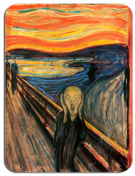 The Scream Edvard Munch Mouse Mat. HD Quality Art Print Computer Mouse Pad Gift