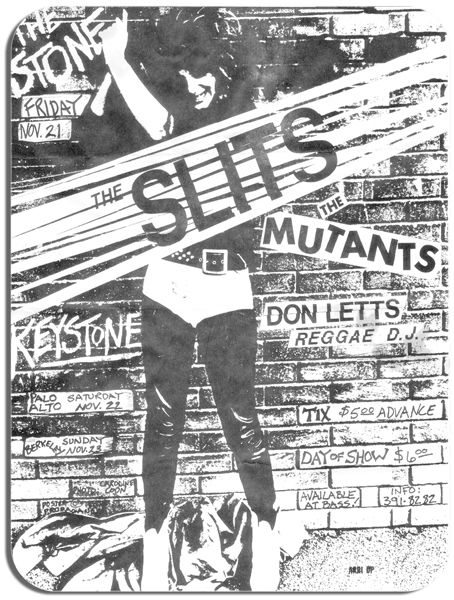The Slits Gig Flyer Poster Mouse Mat. High Quality Punk Rock Music Mouse Pad