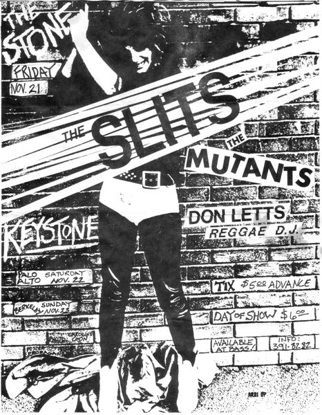 The Slits Gig Poster T shirt. Mens, Ladies & Kids Sizes. Classic Punk Rock Concert Flyer Tee