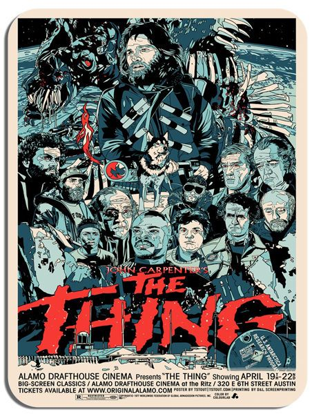 The Thing Movie Poster Mouse Mat. Vintage Horror Film High Quality Mouse pad