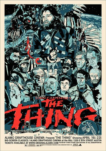 The Thing T-Shirt Adults Ladies & Kids Sizes. Vintage Horror Movie Poster Tee Classic Film Gift
