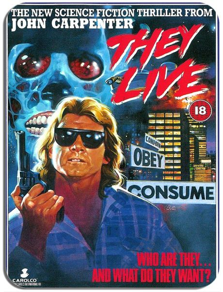 They Live Vintage Film Poster Mouse Mat. Movie Mouse pad Gift. John Carpenter