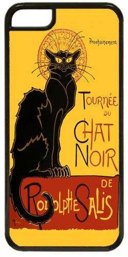 Tournee du Chat Noir Steinlen Black Cat Art Print Cover/Case For iPhone 5C