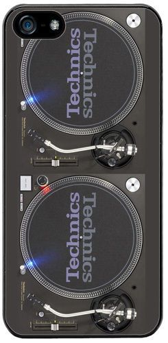 Turntable Vintage Record Decks DJ Mixer Rubber Cover/Case Fits iPhone 5/5S