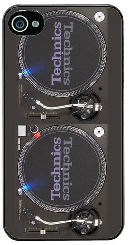 Turntable Vintage Record Decks HD Quality Cover/Case Fits iPhone 4/4S Music Gift