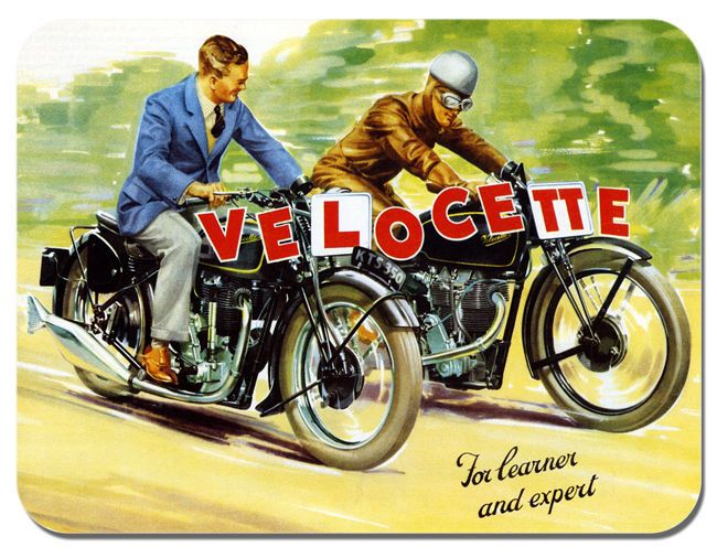 Velocette Vintage 1930's Advert Mouse Mat Motorcycle Classic bike Mouse Pad Gift