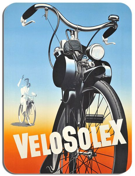 Velosolex Moped Vintage Ad Motorcycle Mouse Mat. Bike Cycling France Mouse pad