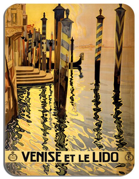 Venice Tourism Poster Mouse Mat. Italy Venise Travel Ad High Quality Mouse Pad