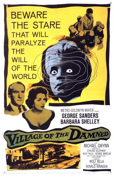 Village of the Damned T-Shirt. Gents, Ladies & Kids Sizes. Horror Movie