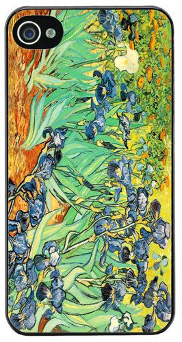 Vincent Van Gogh Irises HD Quality Cover/Case For iPhone 4/4S. Classic Dutch Art