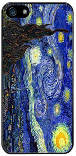 Vincent Van Gogh Starry Night High Quality Rubber Cover/Case For iPhone 5/5S