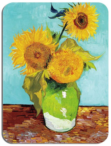 Vincent Van Gogh Sunflowers 1 Mouse Mat. Fine Art Print High Quality Mouse Pad