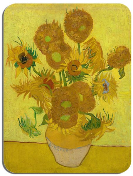 Vincent Van Gogh Sunflowers (6) Mouse Mat. Fine Art Print High Quality Mouse Pad