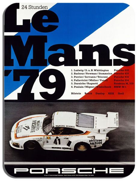 Vintage 24 Hours Le Mans 1979 Poster Mouse Mat. Motor Racing Quality Mouse pad.