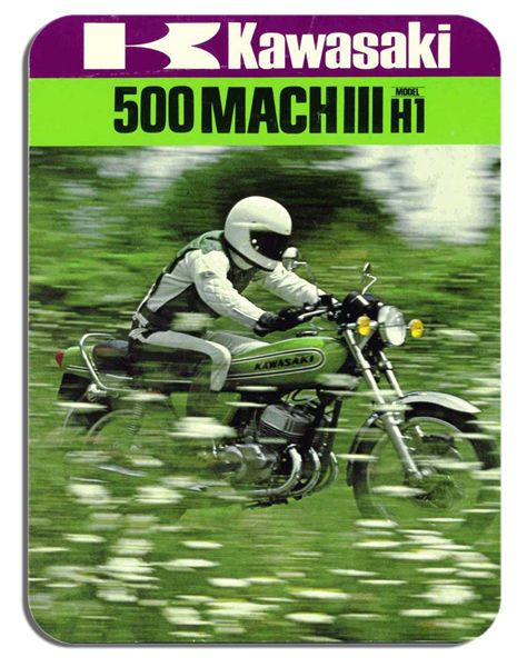 Vintage 500 H1 Advert  Mouse Mat Classic Motorcycle Motorbike Biker Mouse pad