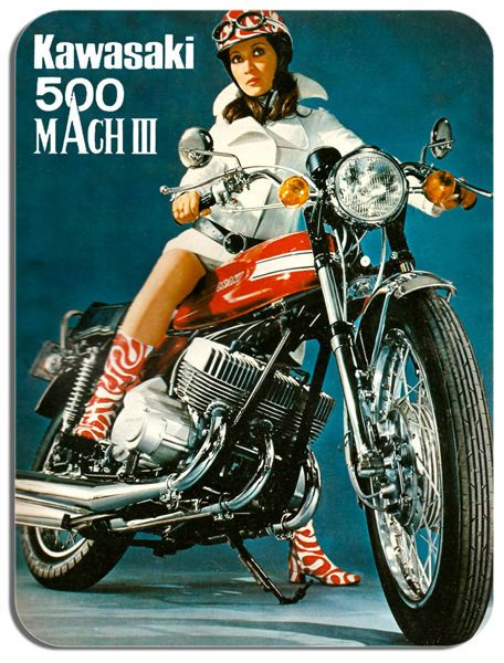 Vintage 500 H1 Mach III 3 Ad Mouse Mat. Classic Japan Bike Motorcycle Mouse pad
