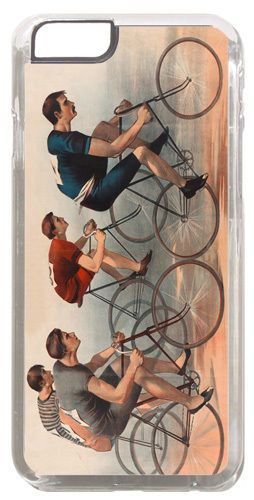 Vintage Bicycle Race Ad Poster Cover/Case For iPhone 6/6S. Bike Racing Gift