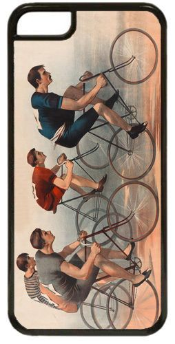 Vintage Bicycle Race High Quality Cover/Case For iPhone 5C. Vintage Cycling Art