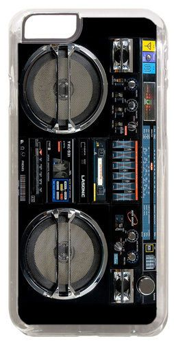 Vintage Boom Box Ghetto Blaster Cover/Case Fits iPhone 6/6S. Music Clip Cover