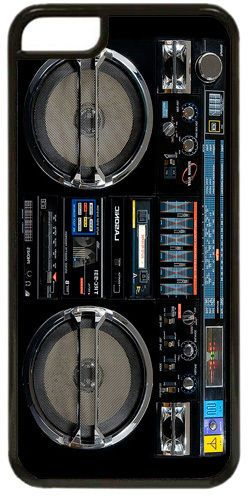 Vintage Boom Box Ghetto Blaster Cover Fits iPhone 5C. High Quality Music Gift
