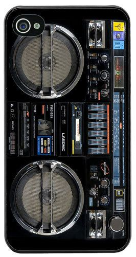 Vintage Boom Box Ghetto Blaster High Quality Cover/Case Fits iPhone 4/4S. Music