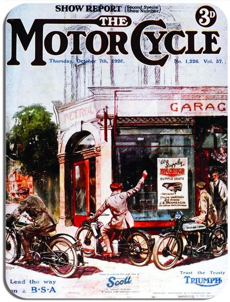 Vintage British Motorcycle Show Mouse Mat. Classic Bike Motorbike Ad Mouse pad