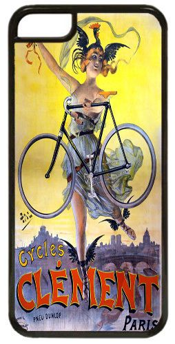 Vintage Clement Bicycle Advert High Quality Cover/Case Fits iPhone 5C. Bike Gift