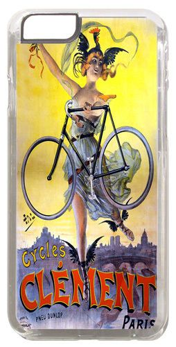 Vintage Clement Bicycle Advert Poster Cover/Case Fits iPhone 6 PLUS + /6 PLUS S