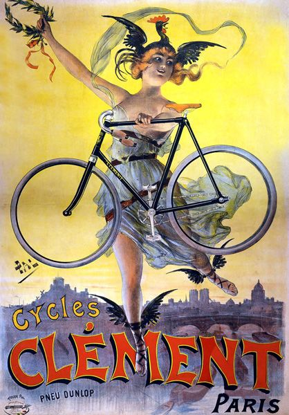 Vintage Clement French Bicycle Advert Poster T Shirt. 13 Sizes. Classic Cycling
