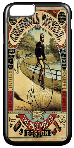 Vintage Columbia Bicycle Advert Cover/Case Fits iPhone 7/7S 6/6S 6+/6+S. Penny