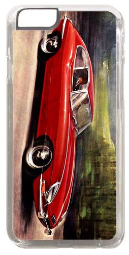 Vintage E Type Jag 4.2 Litre Car Ad Cover/Case For iPhone 6/6S. Classic Gift