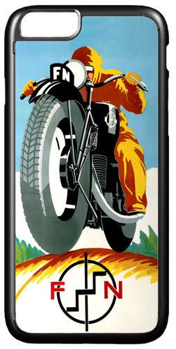 Vintage FN Motorcycle Ad Cover Case For iPhone 7/7S Motorbike Classic Bike Gift