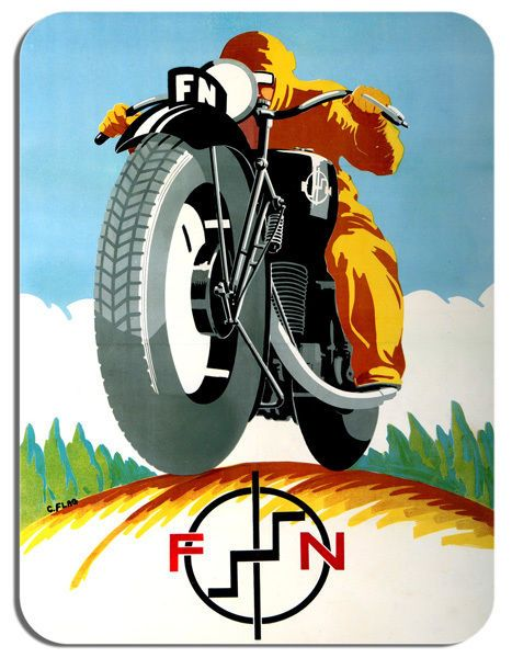 Vintage FN Motorcycle High Quality Mouse Mat. Motorbike Mouse pad Classic Bike