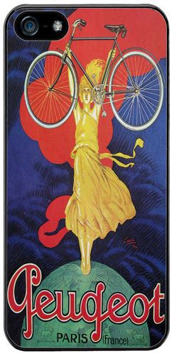 Vintage French Bicycle Ad Poster High Quality Cover/Case For iPhone 5/5S Classic
