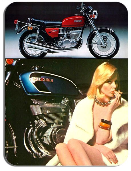 Vintage GT550 Italian Ad Mouse Mat Classic Motorcycle Motorbike Biker Mouse pad