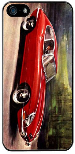 Vintage Jaguar E Type 4.2 Litre Car Ad Cover/Case For iPhone 5/5S. Classic Gift