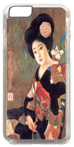 Vintage Japanese Beer Advert Quality Cover/Case For iPhone 6 Geisha Sakura Art