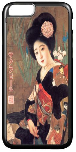Vintage Japanese Beer Advert Quality Cover/Case For iPhone 7. Geisha Sakura Art