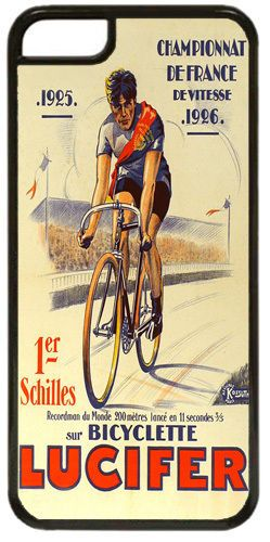 Vintage Lucifer Bicycle Ad Poster High Quality Cover/Case For iPhone 5C Bike