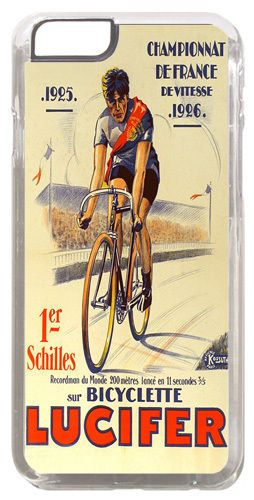 Vintage Lucifer Bicycle Advert Poster Cover/Case Fits iPhone 6 PLUS + /6 PLUS S