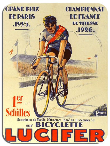 Vintage Lucifer French Bicycle Advert Mouse Mat. Bicycle Bike Cycling Mouse pad
