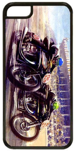 Vintage Motorcycle Race Poster Print Cover Case For iPhone 5C Motorbike Moto GP