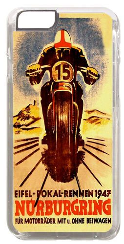 Vintage Motorcycle Racing Cover Case For iPhone 6. German Poster Motorbike Gift