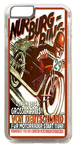 Vintage Nurburgring Motorcycle Racing Ad Cover Case For iPhone 6 Motorbike Gift