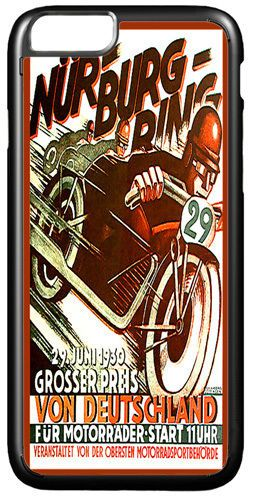 Vintage Nurburgring Motorcycle Racing Ad Cover Case For iPhone 7/7S Motorbike